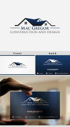create a logo and business card for an established general contractor by kasih ibu