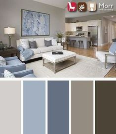 21 Living Room Color Schemes That Express Yourself. These living room color schemes will affect how the guests perceive the interior of your home. Let's enjoy these ideas and feel pleasure! Room Color Design, Room Paint Colors, Paint Colors For Living Room, Living Room Grey, Bedroom Colors, Living Room Furniture, Wall Colors, Interior Design Color Schemes, Design Bedroom