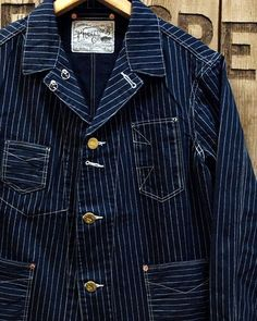 Pherrow's Work Style Cover All pric… Star Clothing, Clothing Co, Workwear Fashion, Denim Fashion, Fashion Fashion, Denim Jacket Men, Tweed Jacket, Corporate Attire, Work Jackets