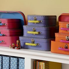 Kids' Storage Containers: Kids Mini-Suitcases for Storage in Decorative Accents