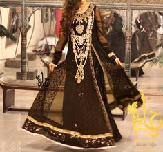 Latest Party wear Fancy Formal Dresses Collection for women by Jannat Nazir 2014-2015 (12)