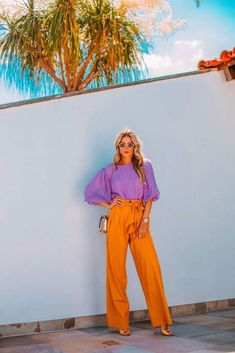Swans Style is the top online fashion store for women. Color Blocking Outfits, Cute Casual Outfits, Stylish Outfits, Summer Outfits, Fashion Colours, Love Fashion, Womens Fashion, Pantalon Naranja Outfits, Orange Pants Outfit