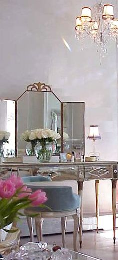 mirrored furniture vanity to match my Pier 1 armoire