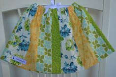 Patchwork Toddler Skirt by BlueKangarooHandmade on Etsy