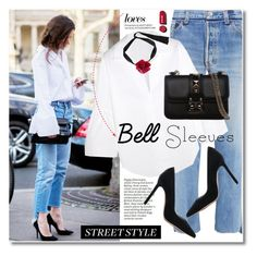 """""""Street Style Trend: Bell Sleeves"""" by svijetlana ❤ liked on Polyvore featuring Vetements, Tome, Gianvito Rossi, Valentino, Chanel, Marni, polyvoreeditorial and bellsleeves"""