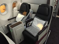 Qatar Airways Business One Airbus Seats http://www.tipsfortravellers.com/qatar-airways-business-one-review/