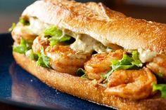 Receta de sándwich de langostinos y cebolla morada