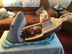 Baby bed inspired by film Jaws