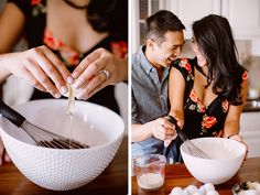 A sweet at home engagement photo shoot by Deep End Imagery - Wedding Party