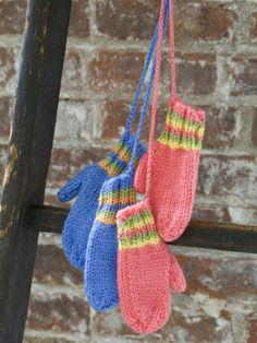 Knit Striped Mittens   Yarn   Free Knitting Patterns   Crochet Patterns   Yarnspirations