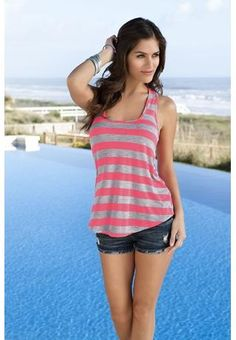 Neon Striped Knot Tank <3