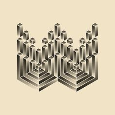 36 Days Of Type - 2016 on Behance Trippy Patterns, 36 Days Of Type, Geometric Form, Abstract Images, Letters And Numbers, Maths, Typo, Uni, Geometry