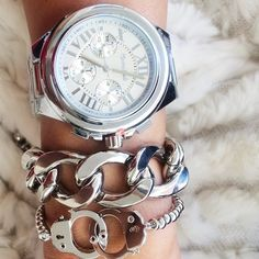 Silver arm candy