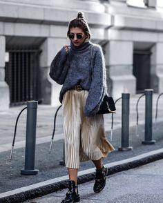 Golden skirt with balenciaga ceinture boots & Gucci belt