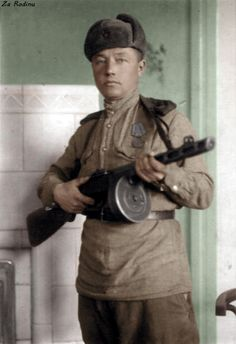Soviet soldier with PPSH-41