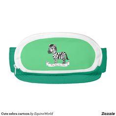 Cute zebra cartoon visor