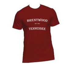 Show pride that you are from Brentwood, Tennessee with this men's short sleeve t-shirt!  Shirt is a super soft Next Level 60% cotton/40% polyester jersey. Sizes Xsmall-2XL. Perfect to show your Tennessee pride!  $25.00  #mytennessee