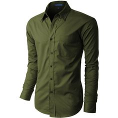 LE3NO PREMIUM Mens Classic Wrinkle Resistant Long Sleeve Button Down... ($26) ❤ liked on Polyvore featuring men's fashion, men's clothing, men's shirts, men's casual shirts, men, male clothes, men shirt's, men's button up, mens button up shirts and mens work shirts