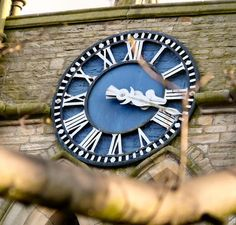 A closeup of the clock face on the Northern side of the tower of St Mark's Church Of England, Saints, Clock, Santos, Watch, Clocks, The Hours