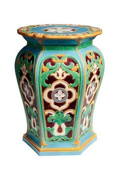 Check out the Majolica International Society page on Face Book! Check out the Ma Ceramic Stool, Ceramic Garden Stools, Ceramic Pottery, Chinoiserie, International Society, Face Book, Garden Seating, Porcelain Ceramics, Decorative Objects