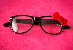 Hello Kitty Glasses. $22.00, via Etsy.