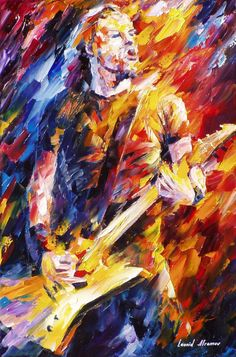 "Metallica, James Hetfield — PALETTE KNIFE Modern Portrait Fine Art Oil Painting On Canvas By Leonid Afremov - Size: 20"" x 30"" (50cm x 75cm)"