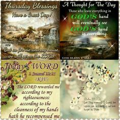 Scripture Art, Bible Scriptures, Happy Thursday Morning, Thursday Greetings, Evening Greetings, King James Bible Verses, Gif Photo, Blessed Quotes, Morning Blessings