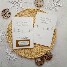 En sobriété et légerté... En vente ici sur revedepapier.com Place Cards, Place Card Holders, Etsy, Happy New Year, Handmade Gifts, Paper, Noel