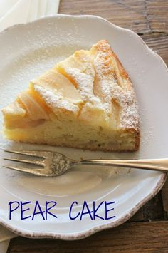 Pear Cake, a delicious moist Italian cake made with pears and mascarpone. A perfect breakfast cake/anitalianinmykitchen.com
