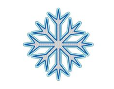Snowflake Embroidery Machine Design by OCDEmbroidery on Etsy