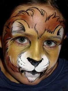 Image result for kids lion face paint. step by step