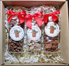 TJ Texas Pecans Variety Gift Box | Treasure Journeys  Great Valentine gift for a guy.