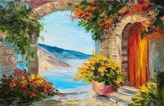 Resultado de imagen para pinturas con casita