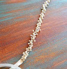 Wedding belt Bridal belt Rhinestone and pearl wedding by ADbrdal