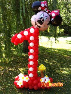 number whit balloons balloon decor palloncini grosseto numero con palloncini decoracion con globos numero 1 minnie mouse topolina