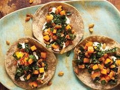 Butternut Squash, Kale, and Crunchy Pepitas Taco From 'Tacolicious'