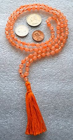 JADE ORANGE PRAYER BEADS JAPA MALA HAND KNOTTED EXCLUSIVE 6 MM BEADS TOP GRADE ROSARY NECKLACE. BLESSED & ENERGIZED (108+1) HINDU TIBETAN BUDDHIST KARMA BEADS SUBHA ROSARY MALA FOR NIRVANA, BHAKTI, FOR REMOVING INNER DOSHAS, FOR CHANTING AUM OM, FOR AWAKENING CHAKRAS, KUNDALINI THROUGH YOGA MEDITATION-FREE OM MALA POUCH INCLUDED AWAKEN YOUR KUNDALINI http://www.amazon.com/dp/B00PI5RMPS/ref=cm_sw_r_pi_dp_Ybb2vb0H6GFDE