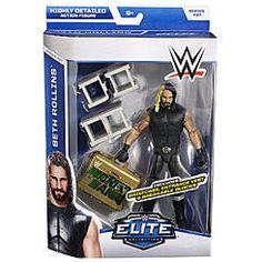 WWE Elite Mattel 2015 Seth Rollins Money in the Bank Figure Combat NEUF