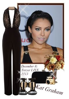 Kat Graham - TREVOR LIVE | December 8th 2013 by tori-lee on Polyvore featuring moda, House of Harlow 1960, Miss Selfridge, Christian Dior, Dolce&Gabbana, Pier 1 Imports and Yves Saint Laurent