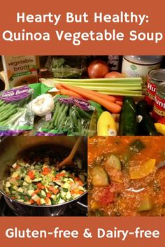 This Quinoa Vegetable Soup Recipe is  Gluten-Free & Dairy Free and is hearty, healthy and filling - yum!