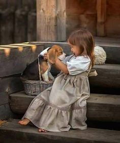 So cute ❤️ Dogs And Kids, Animals For Kids, Animals And Pets, Baby Animals, Cute Animals, Beautiful Children, Beautiful Babies, Beautiful Things, Cute Kids