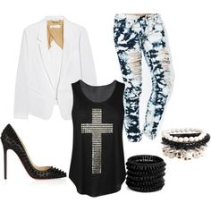 """Everyday Edgy Outfit"" by em-martinez on Polyvore"