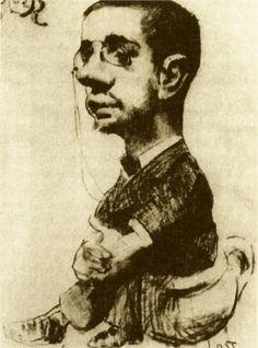 """post-impress-art: """"Self Portrait via Henri de Toulouse-Lautrec """" Henri De Toulouse Lautrec, Famous Artists, Great Artists, French Artists, Gravure, Portrait Art, Art History, Illustrators, Art Nouveau"""