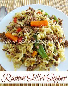 The Country Cook: Ramen Skillet Supper... not gonna lie, ramen is still delish