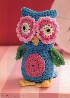 Bhúo en crochet - Crochet owl