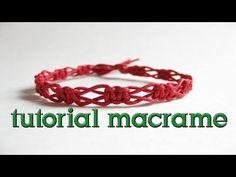 ▶ como hacer una pulsera macrame nudo entrelazada - YouTube