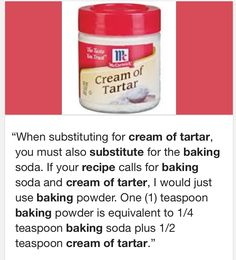 Cream Of Tartar Substitute For Angel Food Cake