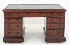 William IV Partners Desk - Mahogany Antique 19th Century Partners Desk, Antique Desk, Cupboard, Office Desk, Crates, Blinds, 19th Century, Antiques, Home Decor