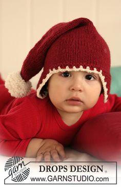 DROPS nissehue med pompon til jul i Nepal Gratis opskrifter fra DROPS Design.