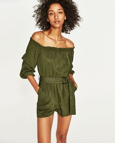 Image 4 of OFF-THE-SHOULDER JUMPSUIT from Zara
